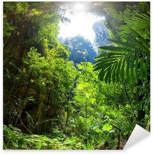 Naklejka Pixerstick Las dżungla
