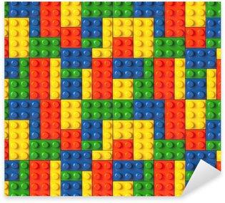 Naklejka Pixerstick Lego tle