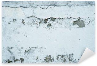 Naklejka Pixerstick Łuszczącą się farbę na kamiennym murem
