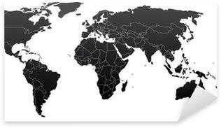 Naklejka Pixerstick Mapa polityczna świata