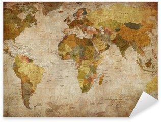 Naklejka Mapa świata