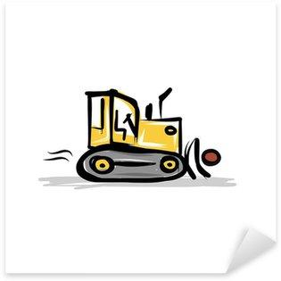 Naklejka , Maszyny budowlane ciągniki Caterpillar projekt