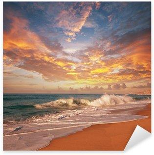 Naklejka Pixerstick Morze zachód słońca