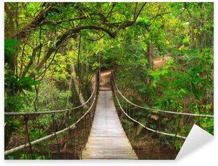 Naklejka Pixerstick Most do dżungli, park narodowy Khao Yai, Tajlandia