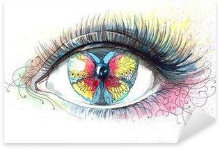 Naklejka Pixerstick Motyl w oku (seria C)