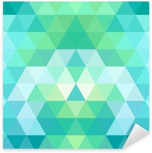 Naklejka Pixerstick Mozaiką w tle trójkąta. geometryczne tle