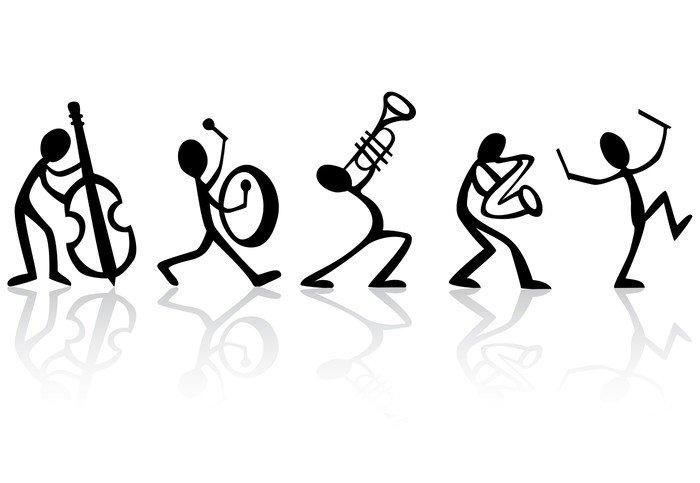 Naklejka Muzycy, zespół grający muzykę wektor idealny do koszulek - Jazz