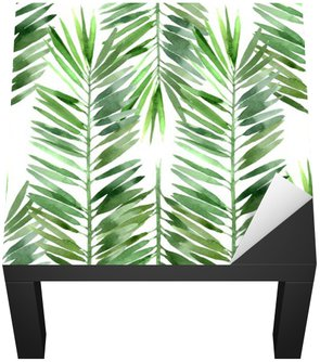 Naklejka na Biurko i Stół Akwarela palma liści bez szwu