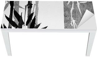 Naklejka na Biurko i Stół Bambusa tekstury
