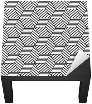 Naklejka na Biurko i Stół Bezproblemowa geometryczny wzór z kostki.