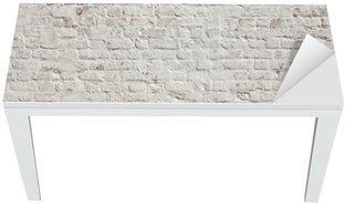 Białe grunge ceglany mur w tle