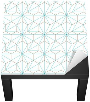 Naklejka na Biurko i Stół Hexagone-cube géométrique