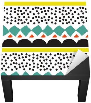 Naklejka na Biurko i Stół Jednolite wzór z graficznymi elementami geometrycznymi