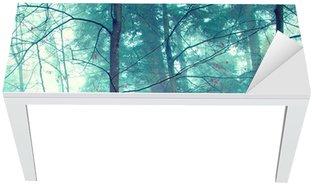 Naklejka na Biurko i Stół Kolorowe jesienne drzewa mistyczne