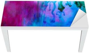 Naklejka na Biurko i Stół Kompozycja abstrakcyjna z atramentem i małych pęcherzyków. Piękne tła, tekstury i kolory