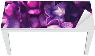 Naklejka na Biurko i Stół Lilac kwiaty w tle