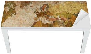 Naklejka na Biurko i Stół Mapa świata