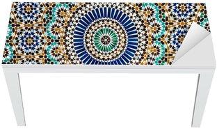 Naklejka na Biurko i Stół Marokański rocznika tło płytek