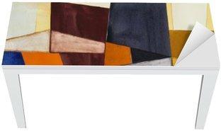 Naklejka na Biurko i Stół Modernistyczny abstrakcyjna akwarela
