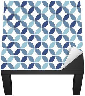 Naklejka na Biurko i Stół Niebieski geometryczny wzór retro bezszwowe