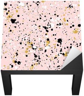 Naklejka na Biurko i Stół Ręcznie rysowane plamy farby tekstury, wektor szwu