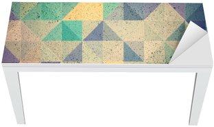 Naklejka na Biurko i Stół Różowy i fioletowy trójkąt abstrakcyjne tło ilustracji