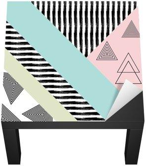 Naklejka na Biurko i Stół Streszczenie ręcznie rysowane wzór geometryczny