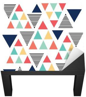 Naklejka na Biurko i Stół Trójkąt różnorodność kolorów wzór