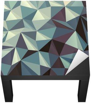 Naklejka na Biurko i Stół Trójkąt Streszczenie geometryczny wzór