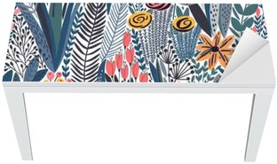 Naklejka na Biurko i Stół Tropical szwu kwiatowy wzór