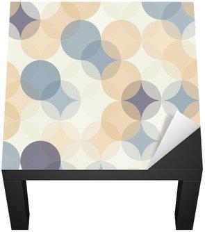 Naklejka na Biurko i Stół Wektor bez szwu kolorowe koła nowoczesne Geometria wzór, kolor abstrakcyjne geometryczne tło, tapeta druku, retro tekstury, projektowanie mody hipster, __