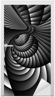 Naklejka na Drzwi 3d streszczenie spirali