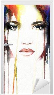 Naklejka na Drzwi Akwarela portret kobiety .abstract