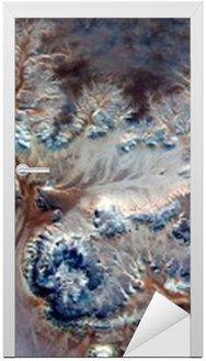 Naklejka na Drzwi Alegoria podwodne kwiaty, Kamień roślin fantasy, abstrakcyjne Naturalizm, abstrakcyjna stock pustynie Afryki z powietrza, streszczenie surrealizm, Miraż, formy fantazji na pustyni, rośliny, kwiaty, liście,
