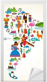 Naklejka na Drzwi Ameryka Południowa miłości - ilustracja pojęcia z ikon wektorowych