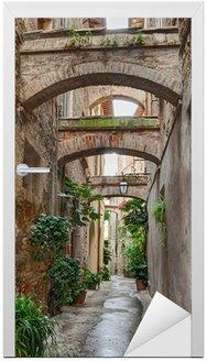 Naklejka na Drzwi Antyczne włoskich aleja