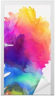 Naklejka na Drzwi Aquarell regenbogen abstrakt verlauf