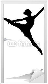 Naklejka na Drzwi Baletnica