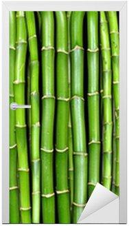 Naklejka na Drzwi Bambus