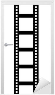 Naklejka na Drzwi Bande pionowa filmu