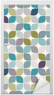 Naklejka na Drzwi Bez szwu abstrakcyjny wzór kropki