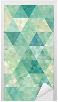 Naklejka na Drzwi Bezszwowe tło z abstrakcyjnym ornamentem geometrycznym