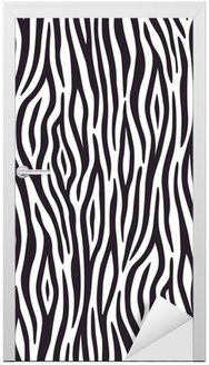 Naklejka na Drzwi Bezszwowe tło z motywem skóry zebry
