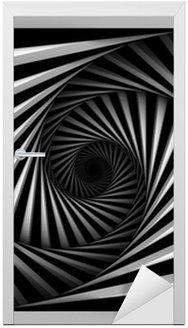 Naklejka na Drzwi Black And White Spiral