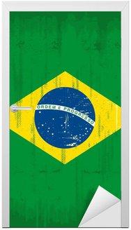 Naklejka na Drzwi Brazylijski pionowe grunge
