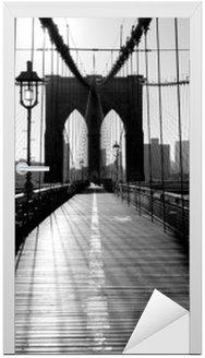 Naklejka na Drzwi Brooklyn Bridge, Manhattan, Nowy Jork, USA