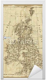 Naklejka na Drzwi Brytyjski Map