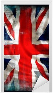 Naklejka na Drzwi Brytyjski Union Jack Flaga w stylu grunge