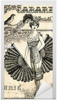 Naklejka na Drzwi Burlesque Cabaret