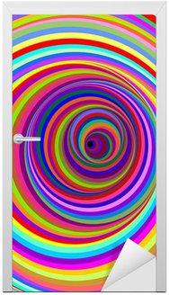 Naklejka na Drzwi Cerchi ipnotici-hipnotyczne psychodeliczne koła wektor